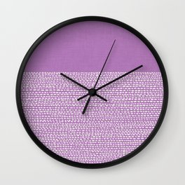 Riverside - Radiant Orchid Wall Clock