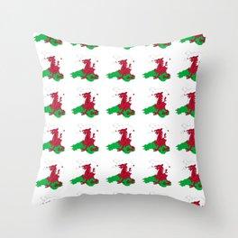 Flag of Wales 2 ,uk,great britain,dragon,cymru, welsh,celtic,cymry,cardiff,new port Throw Pillow