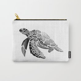 Turtle Rising - Grey Carry-All Pouch