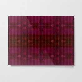Patterns II Red Metal Print