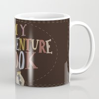 ellie goulding Mugs featuring my adventure book.. up, carl and ellie by studiomarshallarts