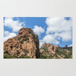 Seacoast of the Esterel Natural Park in French Riviera Rug
