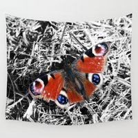 into the wild Wall Tapestries featuring WILD. by Gareth Pollock Design