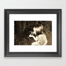 playin in summer Framed Art Print