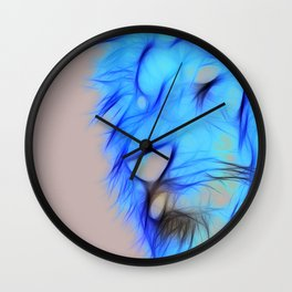 Lion - Flames Wall Clock