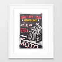 austin Framed Art Prints featuring Austin by Two 01 Artwerx