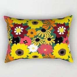 Retro Fall Flowers Rectangular Pillow