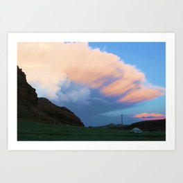 Camping in WY Art Print