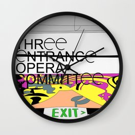Three Entrance Opera Comittee Wall Clock