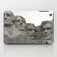 rushmore iPad Cases featuring Mount Rushmore National Park by Joanne Salazar