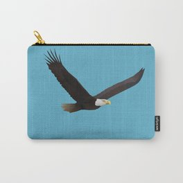 Geometric Bald Eagle - Modern Animal Art Carry-All Pouch