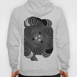 Black and White Abstract Design Hoody