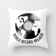 World Record Breaker Throw Pillow
