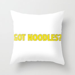 Noodles Throw Pillow