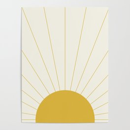 Sunrise / Sunset Minimalism Poster