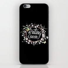 Writing Queen iPhone Skin