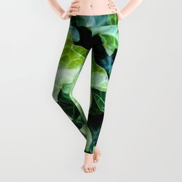 Green Ivy Photography Print Leggings