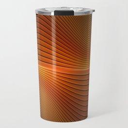 Orange Sine Wave Travel Mug