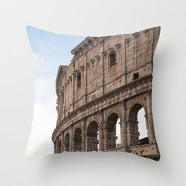 Rome's Colosseum After Sunrise Throw Pillow