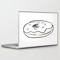 doughnut Laptop & iPad Skins featuring Doughnut  by paintinpeyton