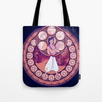 aladdin Tote Bags featuring Aladdin by NicoleGrahamART