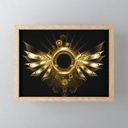 Mechanical Wings ( Steampunk Wings ) Framed Mini Art Print