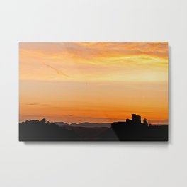 Trifels castle at dusk Metal Print