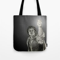 lotr Tote Bags featuring LotR - The Light of Earendil by Faye Sutherland