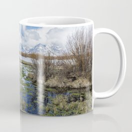Grand Tetons from Willow Flats in Early April Coffee Mug