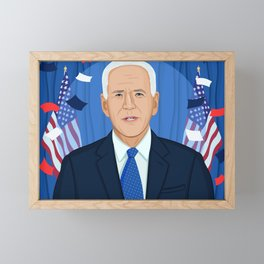 Joe Biden Framed Mini Art Print