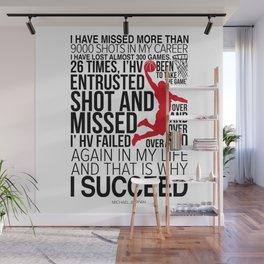 Michael Jorden Basketball Motivation Wall Mural