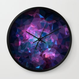 Galaxy Low Poly 45 Wall Clock