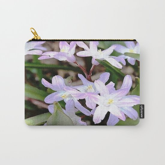Delicate Beauty - Glory In The Snow - Pink Carry-All Pouch
