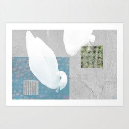 THE ENVIOUS SWAN Art Print