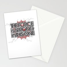 The Force is strong in this one Stationery Cards