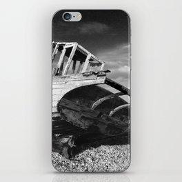 abandoned fishing boat iPhone Skin