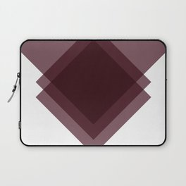 Modern Geometric Art Deco Burgundy Laptop Sleeve