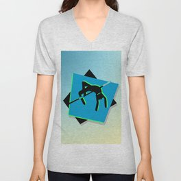 High-level jumper in the athletics Unisex V-Neck