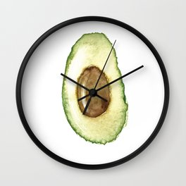 Watercolor Avocado - Ready for a fresh guacamole Wall Clock