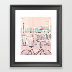 Best Cities to Tour by Bicycle Framed Art Print