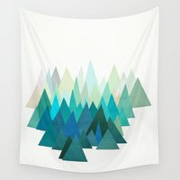 cassia beck Wall Tapestries featuring Cold Mountain by Cassia Beck