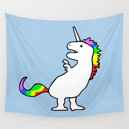 Cute Dinocorn (T-Rex Unicorn) Wall Tapestry