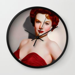 Piper Laurie, Vintage Actress Wall Clock