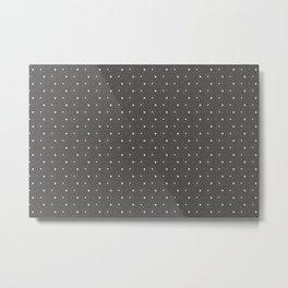 Pantone Pewter and white Polka Dots Circle Pattern Metal Print