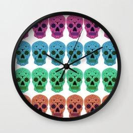 Dia De Los Muertos Pattern Wall Clock