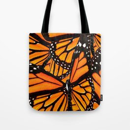 MONARCH BUTTERFLIES WING COLLAGE PATTERN 2 Tote Bag