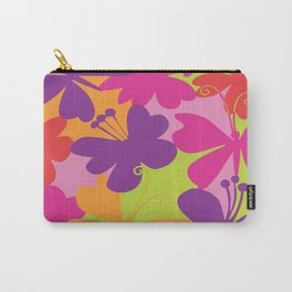 butterfly animals rainbow color purple pink green yellow Carry-All Pouch