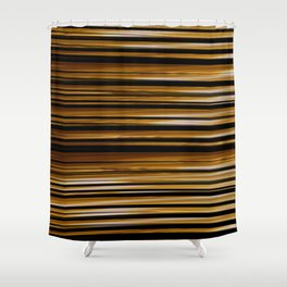 SCOTCH whiskey wood slats with shadows Shower Curtain