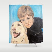 best friends Shower Curtains featuring Best Friends by gretzky