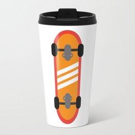 Orange Skateboard Travel Mug